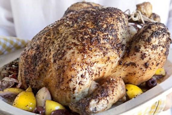 أطباق جزائرية عصرية ـ الدجاج المشوي بالزعتر والليمون