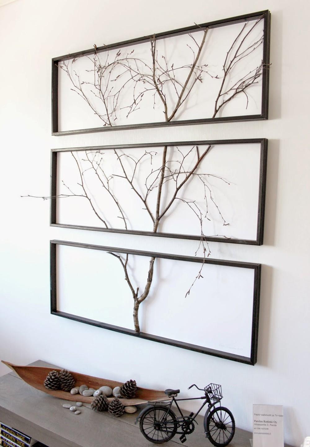 ديكورات خشبية للحائط ـ تابلوه فروع الخشب