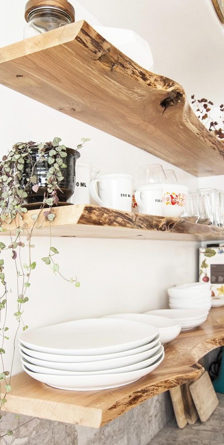 ديكورات خشبية للحائط ـ الأرفف الخشبية