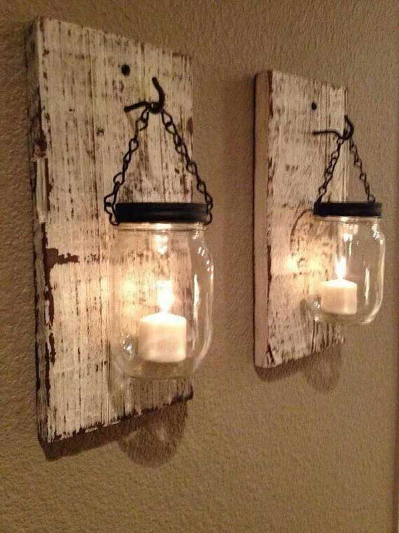 ديكورات خشبية للحائط ـ حامل القناديل الخشبي