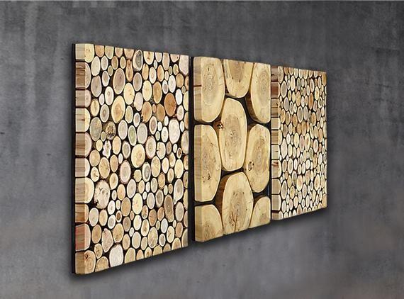 ديكورات خشبية للحائط ـ تابلوه شرائح الخشب