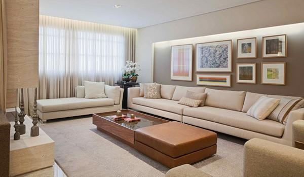 أشكال أثاث صالة مستطيلة ـ أنتريه تقليدي بأريكة طويلة