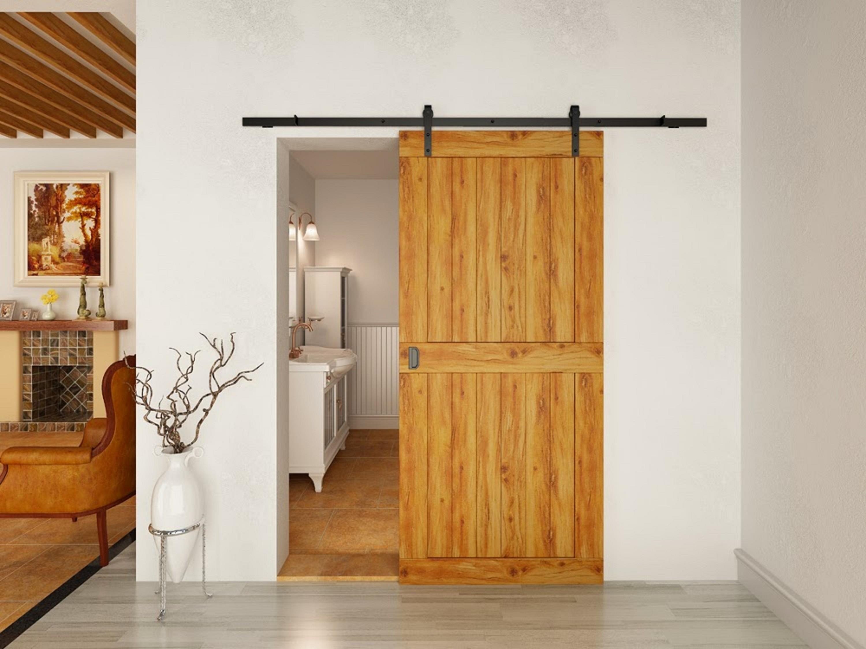 أشكال أبواب جرارة داخل المنزل ـ باب جرار خشب صغير