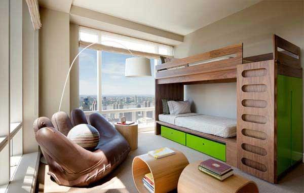 أشكال غرف أطفال دورين ـ غرفة أطفال شبابي