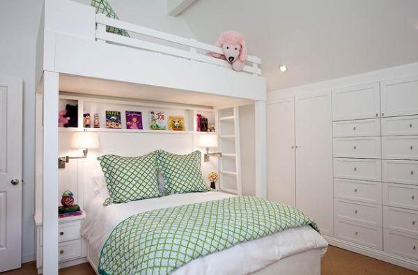 أشكال غرف أطفال دورين ـ غرفة أطفال بسريرين مختلفين