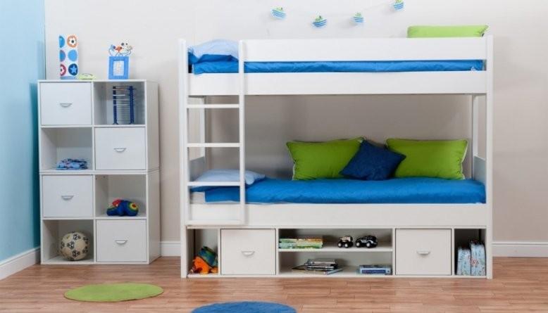 أشكال غرف أطفال دورين ـ سرير أبيض
