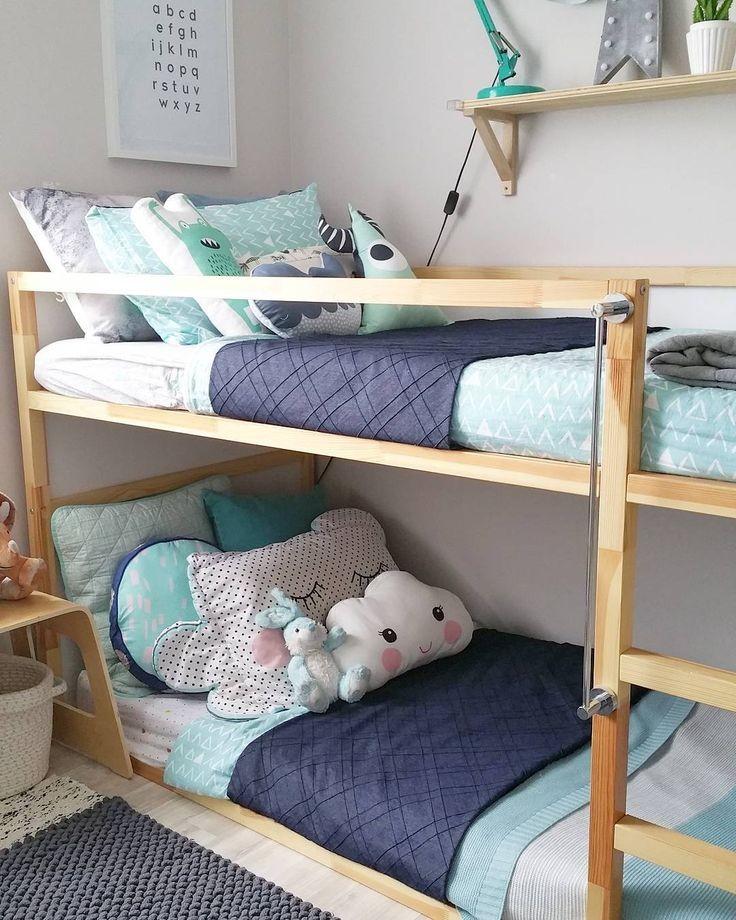 أشكال غرف أطفال دورين ـ سرير خشبي