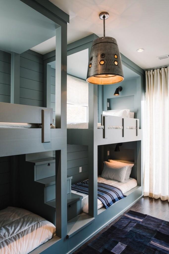 أشكال غرف أطفال دورين ـ سرير رمادي