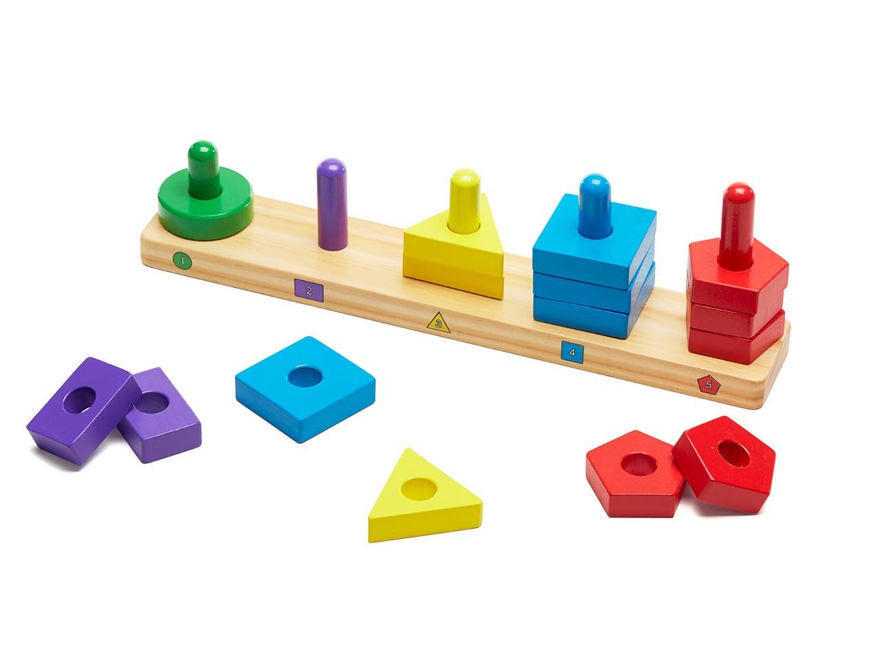 ألعاب خشبية للأطفال ـ لوح التصنيف الخشبي
