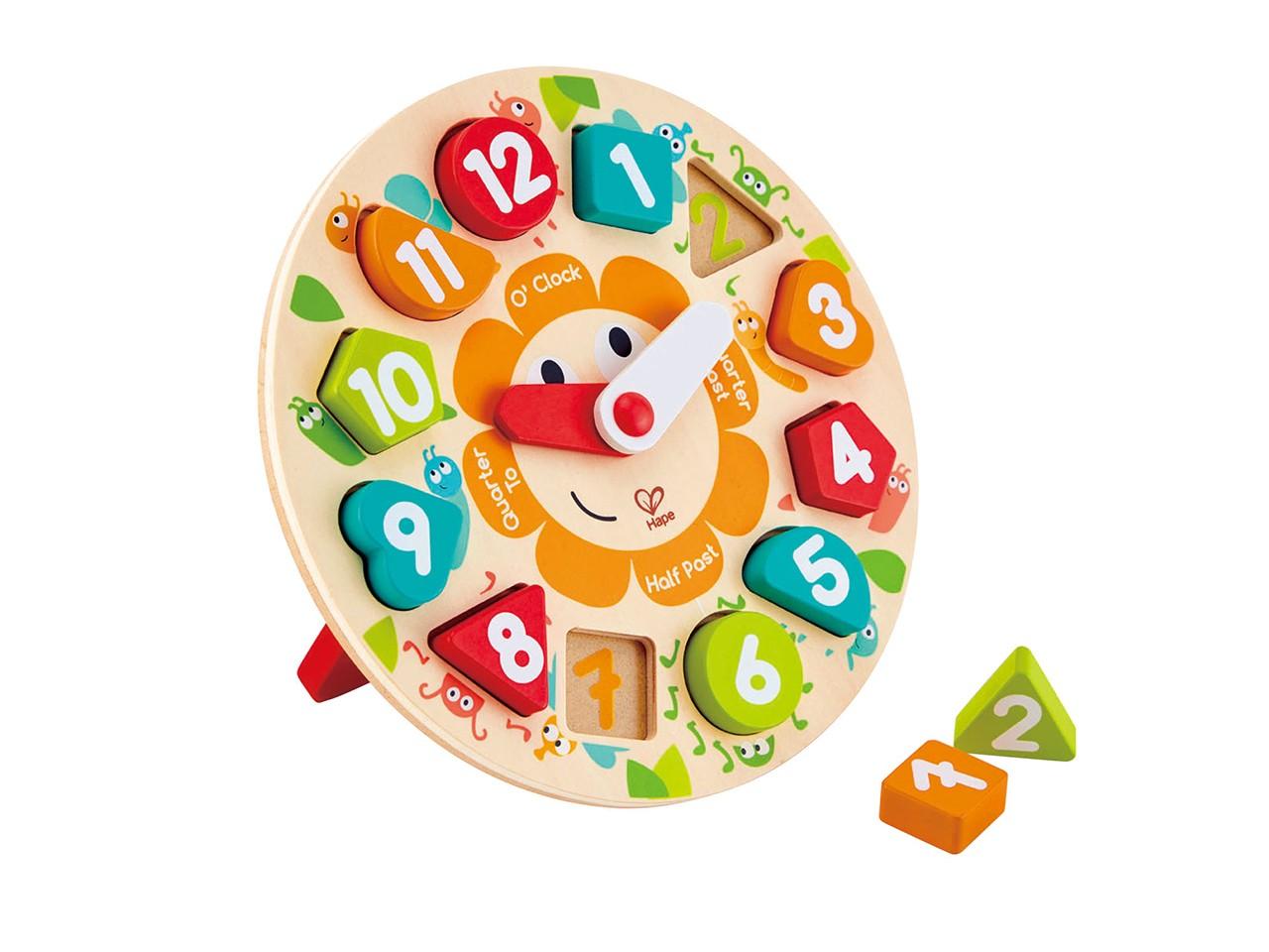 ألعاب خشبية للأطفال ـ الساعة الخشبية