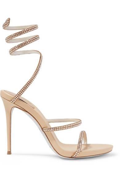 فستان سواريه باللون الجنزاري ـ حذاء ذهبي