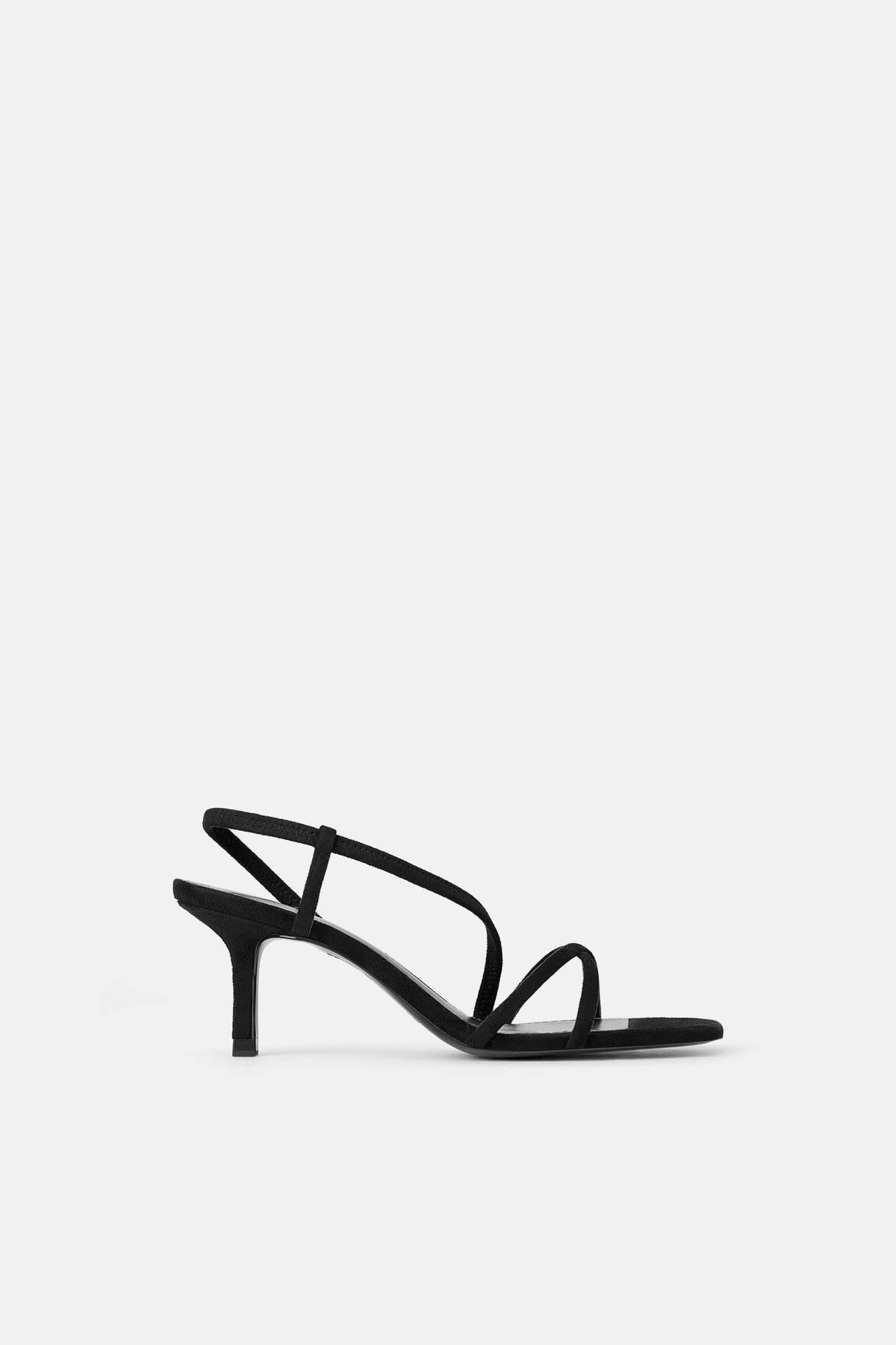 فستان سواريه باللون الجنزاري ـ حذاء أسود