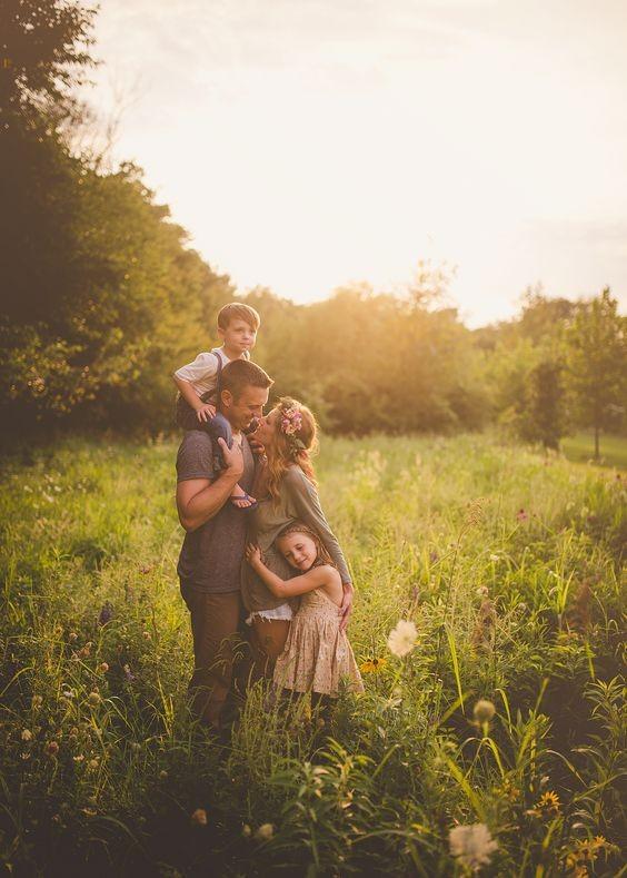 أفكار للصور العائلية المبتكرة ـ صورة مفعمة بالحب