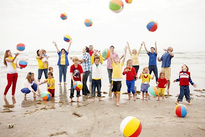 أفكار للصور العائلية المبتكرة ـ العائلة الكبيرة