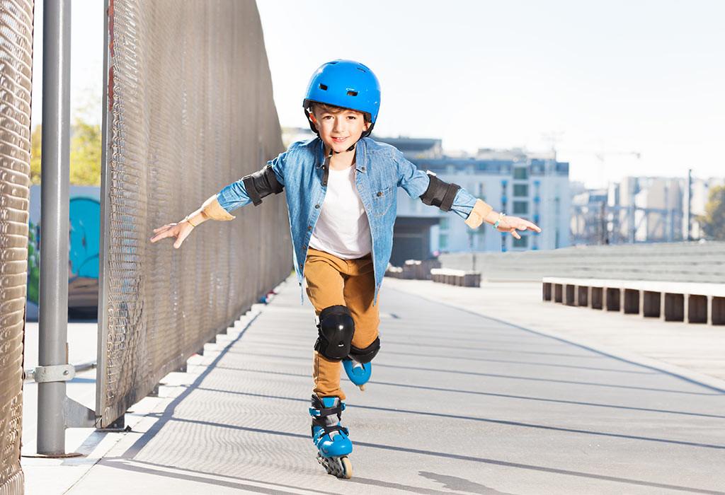 تمارين للأطفال 10 سنوات - تمرين التزلج
