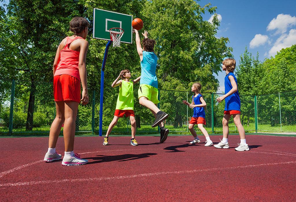 تمارين للأطفال 10 سنوات - تمرين كرة السلة