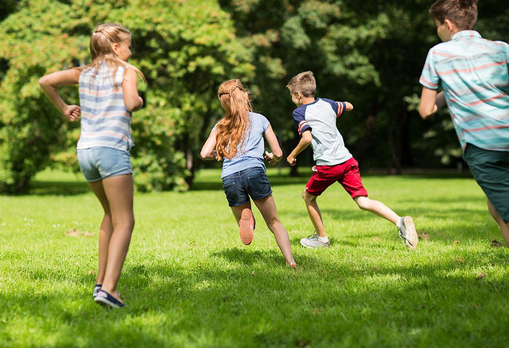 تمارين للأطفال 10 سنوات - تمرين الجري مع المرح