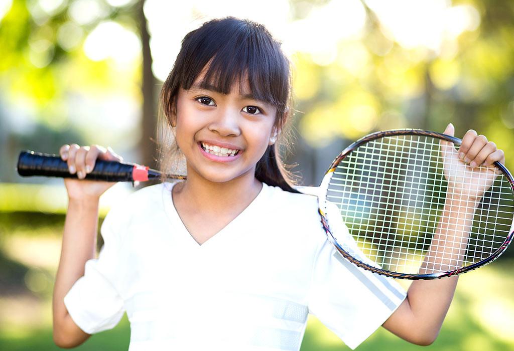 تمارين للأطفال 10 سنوات - تمرين تنس الريشة