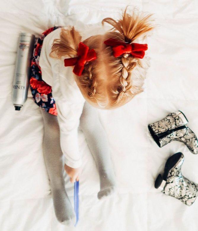 تسريحات للاطفال الصغار - الضفيرة الهولندية
