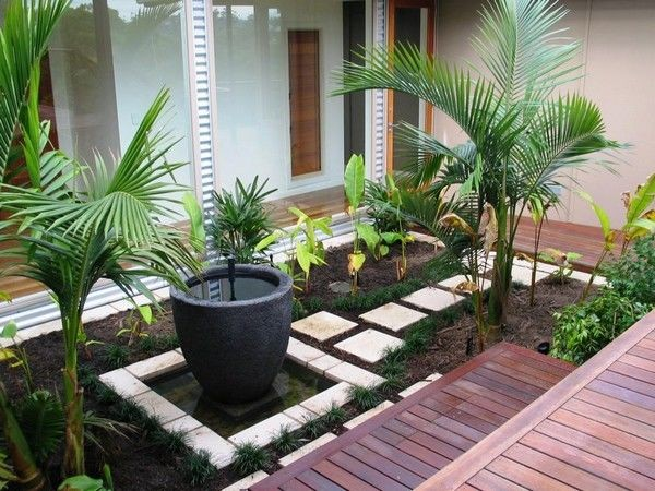 كيفية عمل حديقة منزلية صغيرة - حدائق في مدخل المنزل1