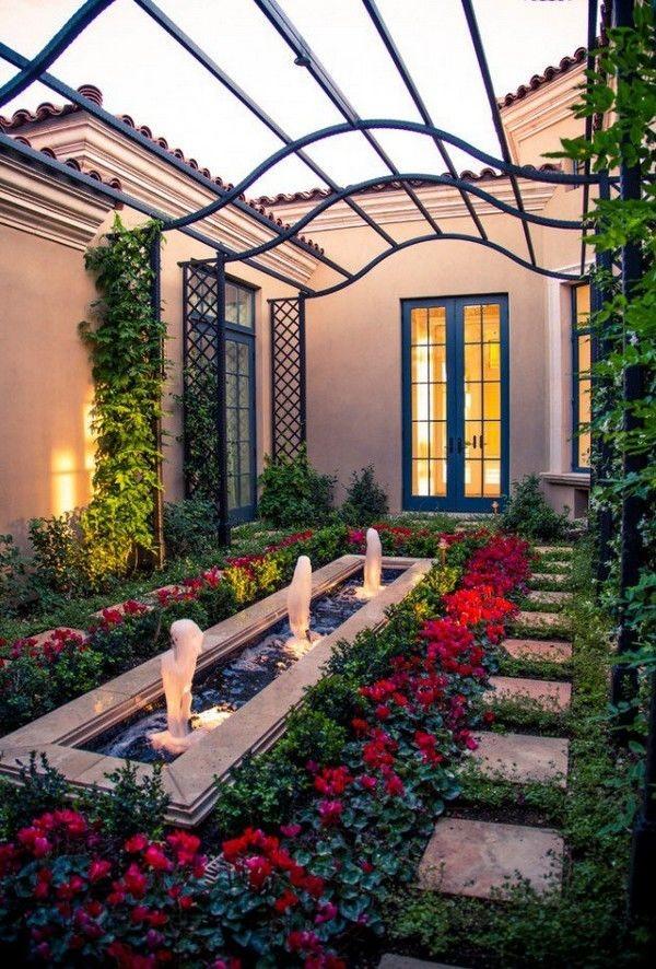 كيفية عمل حديقة منزلية صغيرة - حدائق في مدخل المنزل2