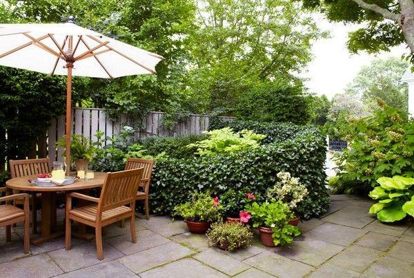 كيفية عمل حديقة منزلية صغيرة - حدائق بها مكان للجلوس3