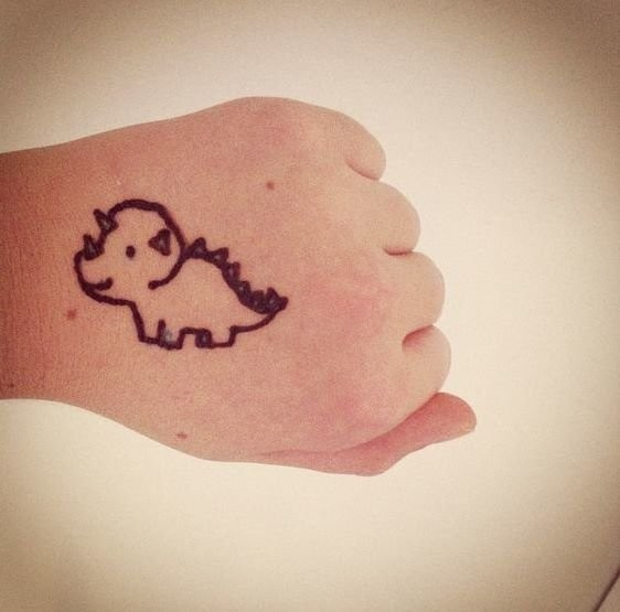 طريقة رسم الحنة للأطفال - رسومات حنة بسيطة 2