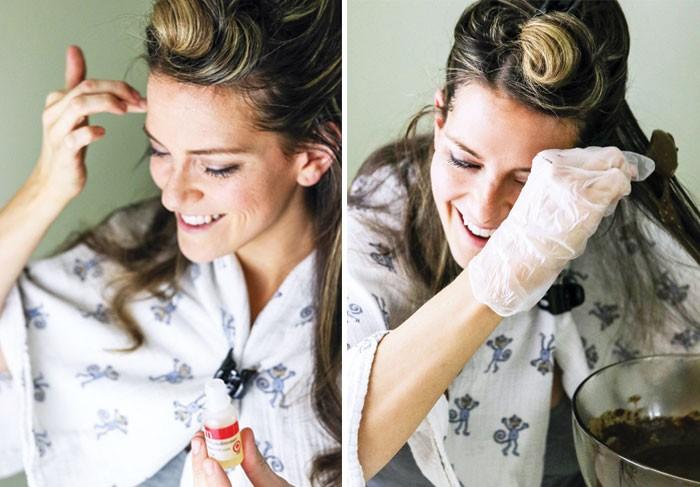 طريقة عمل الحنة للشعر - طريقة وضع الحناء على الشعر 2