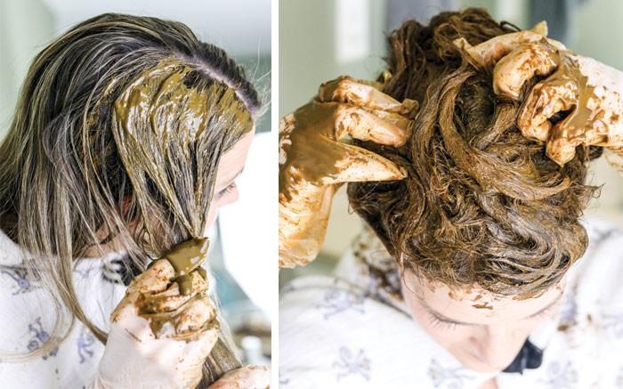 طريقة عمل الحنة للشعر - طريقة وضع الحناء على الشعر 3