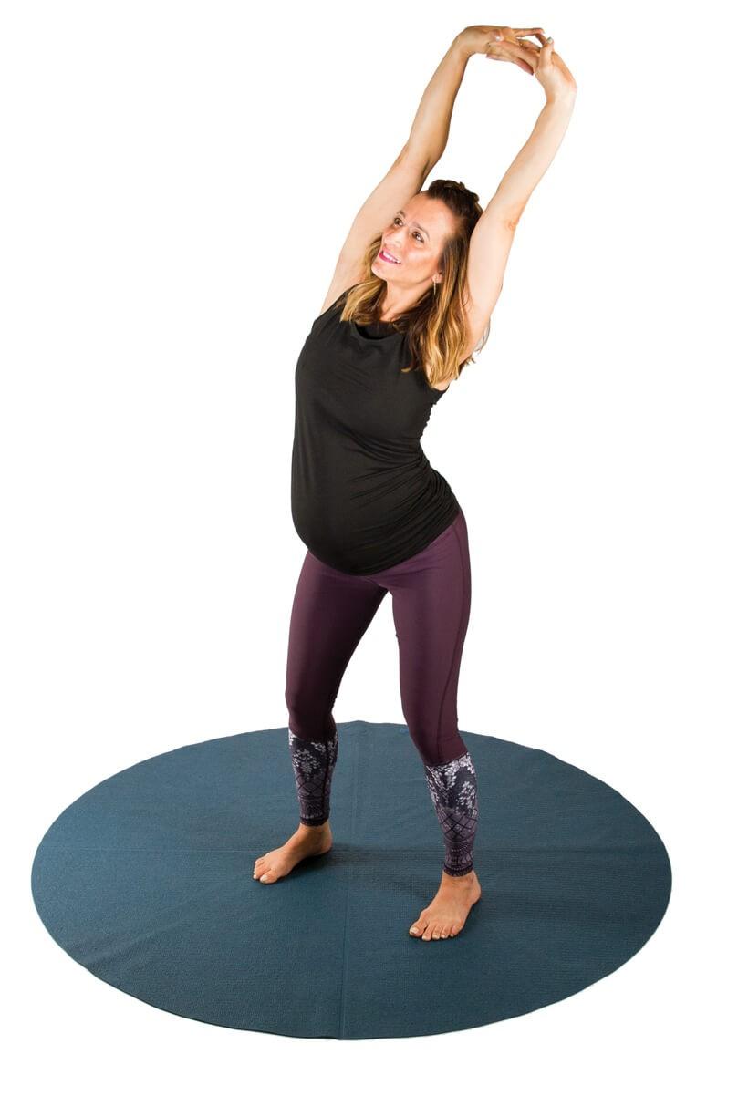 تمارين اليوجا في الثلث الثالث من الحمل - التمرين الأول