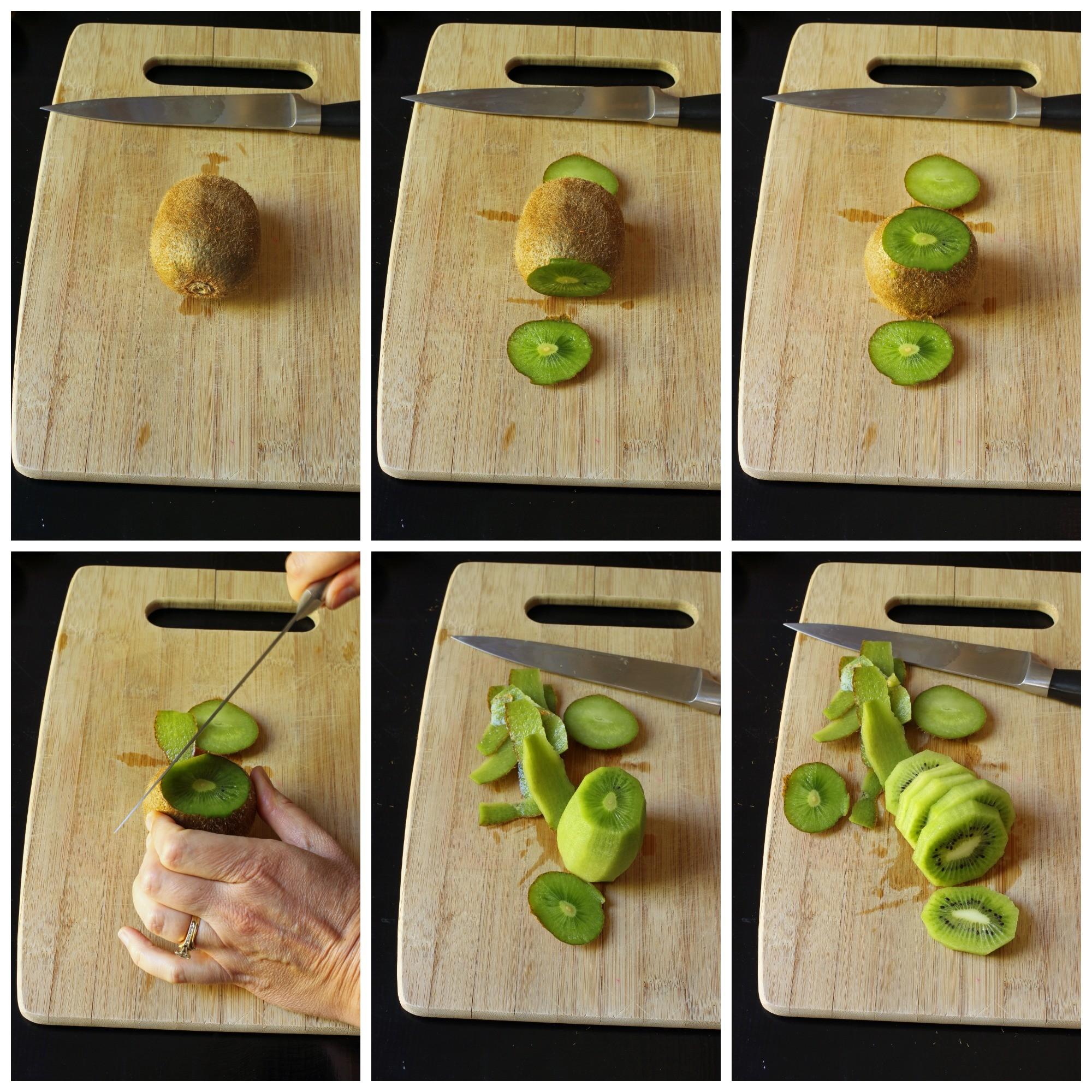 طرق تقطيع الفاكهة لتزيين التورتة - طريقة تقطيع الكيوي