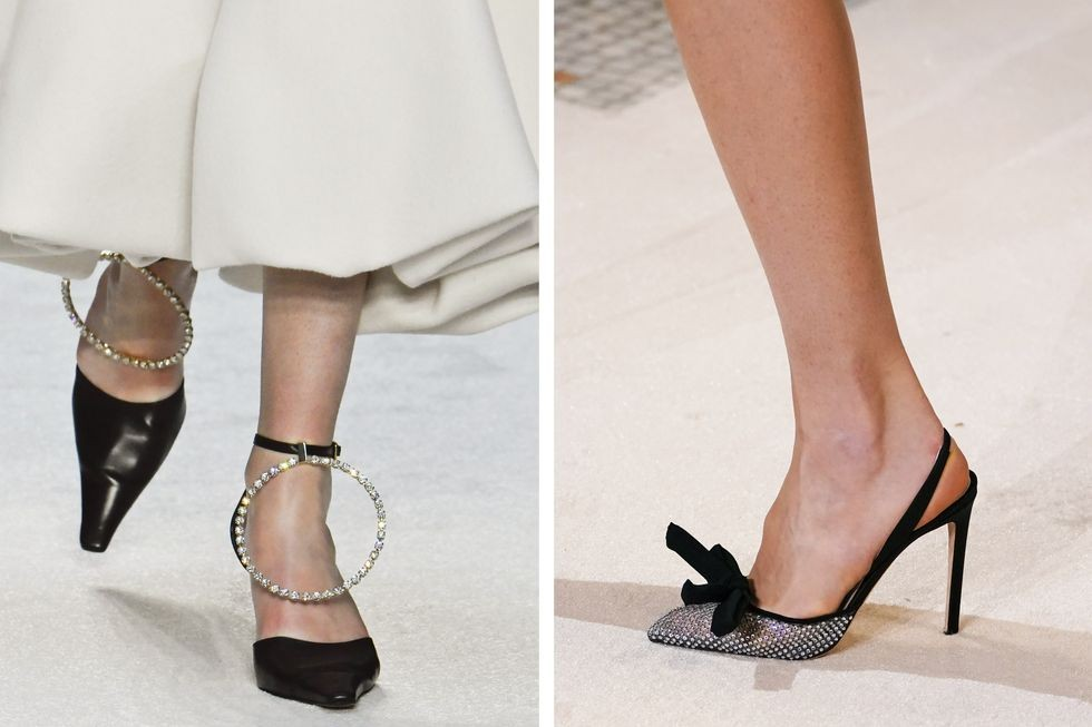 كيفية تنسيق الوان الملابس مع الاحذية - الأحذية ذات الأجزاء اللامعة