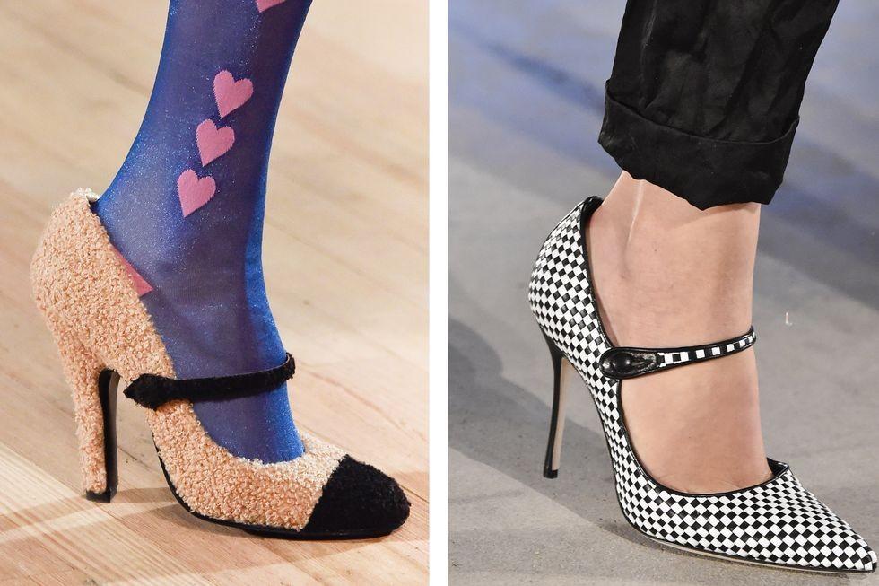 كيفية تنسيق الوان الملابس مع الاحذية - الأحذية ذات النقشات والملمس المختلف