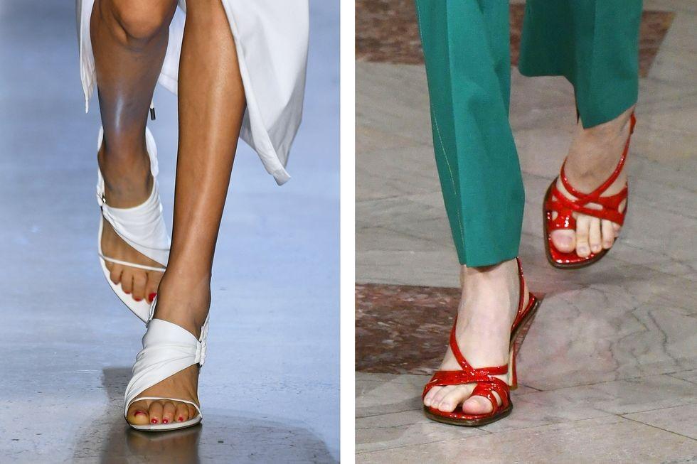 كيفية تنسيق الوان الملابس مع الاحذية - الأحذية ذات الأشرطة المتماثلة