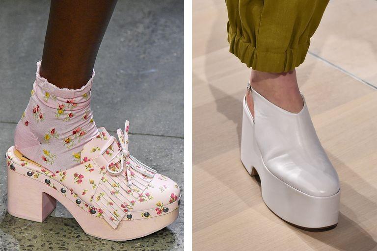 كيفية تنسيق الوان الملابس مع الاحذية - الأحذية ذات النعل الضخم