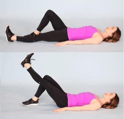 تقوية الركبة - تمرين رفع الساق