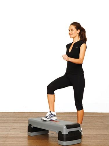 تقوية الركبة - تمرين الخطوة