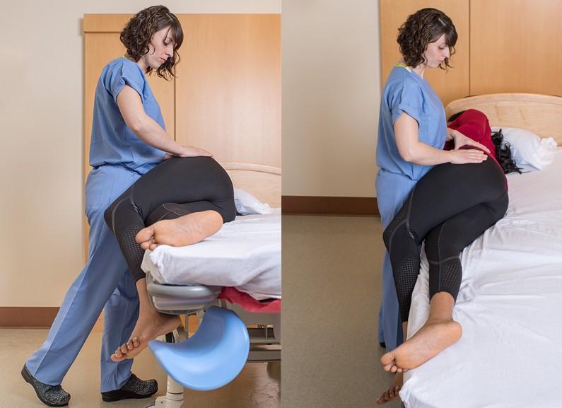 تمارين لتعديل وضع الجنين - الإفراج الجانبي