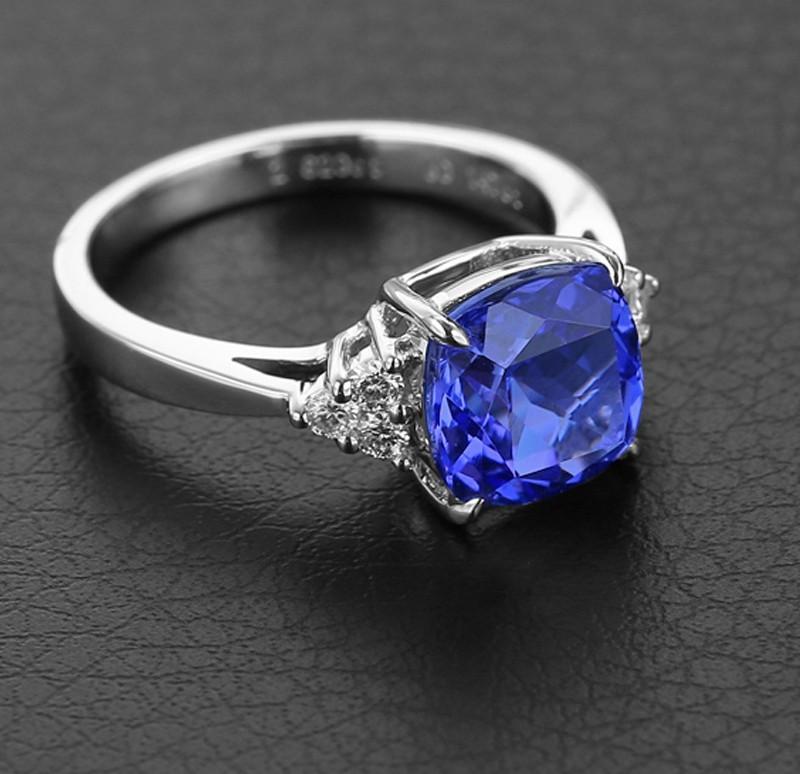 خاتم-فضة-فص-أزرق
