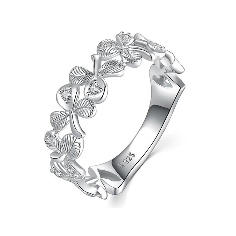 خاتم-فضة-زهور