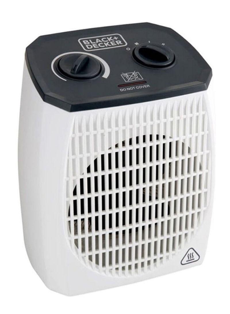 أفضل أنواع الدفايات- دفاية مروحة بلاك اند ديكر، 2000 وات، أبيض - HX310