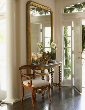 أشكال تحف لمدخل المنزل-مرآة وكرسي
