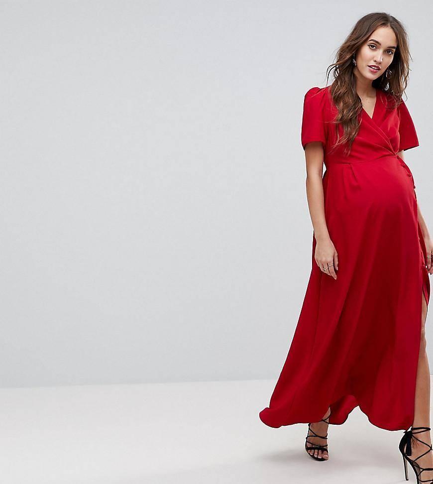 طرق اخفاء بطن الحامل بالملابس-فستان بقصة تحت الصدر