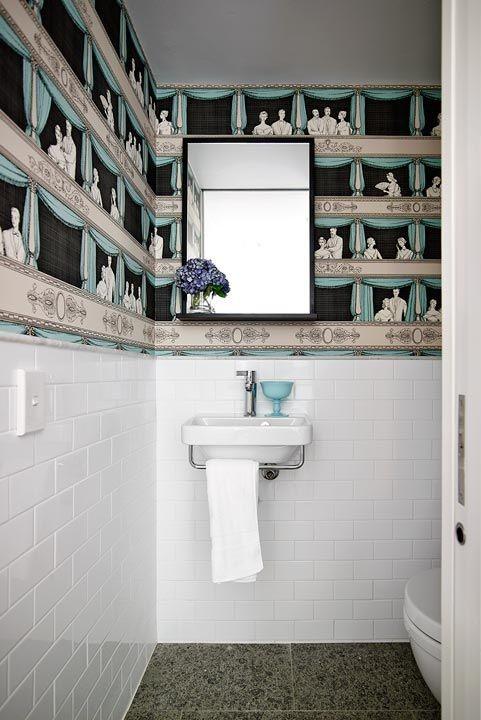 ديكورات الحمام 2020- ورق حائط