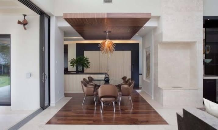 ديكورات-سقف-معلق-خشب-نجف-هادئ