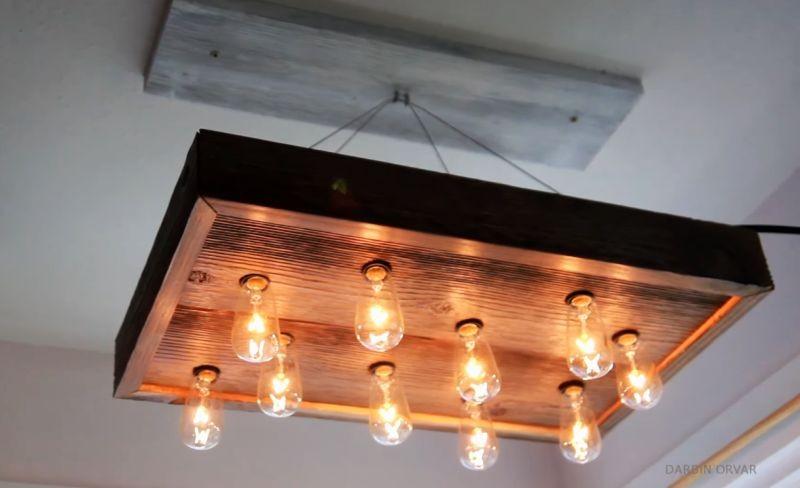 ديكورات-سقف-معلق-خشب-قطعة-خشبية-للسقف-بالإضاءات