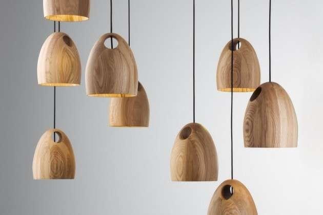 ديكورات-سقف-معلق-خشب-إضاءات-خشبية-متدلية